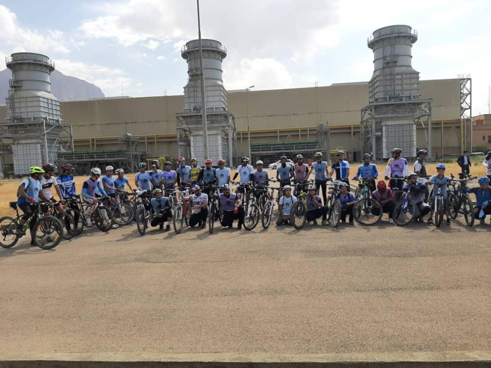 برگزاری همایش بزرگ دوچرخه سواری در نیروگاه زاگرس کوثر
